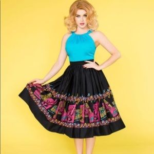 NWT Pinup Couture Music Skirt Size M